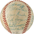 Baseball Collectibles:Balls, 1957 National League All-Star Team Signed Baseball....