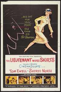 """The Lieutenant Wore Skirts (20th Century Fox, 1956). One Sheet (27"""" X 41"""") and Pressbook (Multiple Pages, 14&q..."""