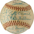 Baseball Collectibles:Balls, 1952 San Diego Padres Team Signed PCL Baseball....