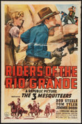 "Movie Posters:Western, Riders of the Rio Grande (Republic, 1943). One Sheet (27"" X 41""). Western.. ..."