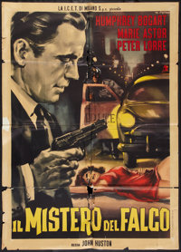 "The Maltese Falcon (United Artists, R-1962). Italian 2 - Foglio (39"" X 55""). Film Noir"