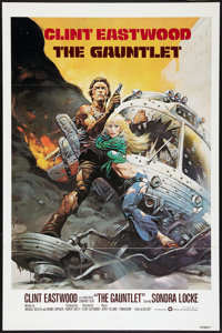 """The Gauntlet Lot (Warner Brothers, 1977). One Sheets (2) (27"""" X 41"""") Flat Folded International and Regular Sty..."""
