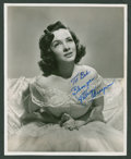 """Movie Posters:Miscellaneous, Kathryn Grayson by Virgil Apger Lot (MGM, 1940s and Early 1960s). Autographed Stills (2) (8"""" X 10""""). Miscellaneous.. ... (Total: 2 Items)"""