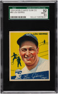 Baseball Cards:Singles (1930-1939), 1934 World Wide Gum Lou Gehrig #92 SGC 92 NM/MT+ 8.5....