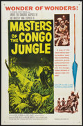 """Movie Posters:Documentary, Masters of the Congo Jungle (20th Century Fox, 1960). One Sheet (27"""" X 41"""") and Lobby Card Set of 8 (11"""" X 14""""). Documentary... (Total: 9 Items)"""