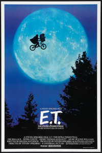 """E.T. The Extra-Terrestrial (Universal, 1982). One Sheet (26.75"""" X 40.5"""") Bicycle Style. Science Fiction"""
