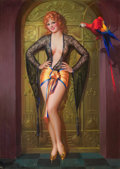 Pin-up and Glamour Art, GENE PRESSLER (American, b. 1893). Miss Glory, c. 1932.Pastel on board. 43.5 x 31.5 in.. Signed lower left. ...