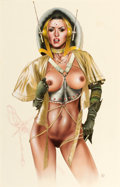 Pin-up and Glamour Art, CHRIS ACHILLEOS (English, b. 1947). Beauty and the Beastbook illustration. Mixed-media on board. 25 x 16 in.. Monog...