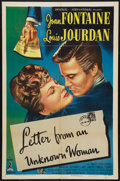"Movie Posters:Drama, Letter from an Unknown Woman (Universal International, 1948). OneSheet (27"" X 41""), Lobby Card (11"" X 14'), and Pressbook (...(Total: 3 Items)"