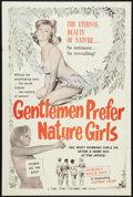 "Movie Posters:Sexploitation, Gentlemen Prefer Nature Girls (Doe-Rae Pictures, 1962). One Sheet (27"" X 41""). Sexploitation.. ..."