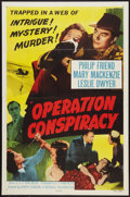 "Movie Posters:Mystery, Operation Conspiracy (Republic, 1957). One Sheet (27"" X 41"") FlatFolded. Mystery.. ..."