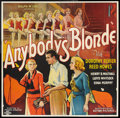 "Movie Posters:Drama, Anybody's Blonde (Action, 1931). Six Sheet (81"" X 81""). Drama.. ..."