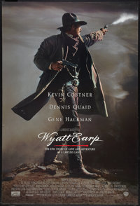 """Wyatt Earp Lot (Warner Brothers, 1994). One Sheets (2) (27"""" X 41"""") DS Advance and Regular. Western. ... (Total..."""