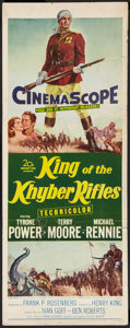 """Movie Posters:Adventure, King of the Khyber Rifles (20th Century Fox, 1954). Insert (14"""" X36""""). Adventure.. ..."""