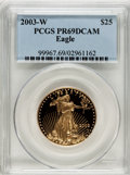 Modern Bullion Coins, 2003-W $25 Half-Ounce Gold Eagle PR69 Deep Cameo PCGS. PCGSPopulation (869/164). NGC Census: (429/745). Numismedia Wsl. P...