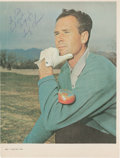 Golf Collectibles:Autographs, Early 1960's Tony Lema Signed Magazine Photograph....