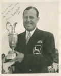 Golf Collectibles:Autographs, 1949 Bobby Locke Signed Photograph....