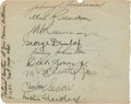 Golf Collectibles:Autographs, 1932 Max Marston & More Signed Album Page....