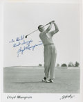 Golf Collectibles:Autographs, Circa 1946 Lloyd Mangrum Signed Photograph....
