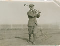 Golf Collectibles:Autographs, 1920 Abe Mitchell Signed Photograph....