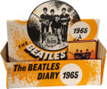 Music Memorabilia:Memorabilia, The Beatles Vintage Pocket Diary with Display (1965).... (Total: 2 Items)