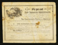 Confederate Notes:Group Lots, Ball 362 Cr. 152 $100 Confederate Non Taxable Certificate VeryGood.. ...
