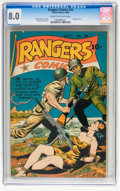 Golden Age (1938-1955):War, Rangers Comics #19 (Fiction House, 1944) CGC VF 8.0 Cream tooff-white pages....
