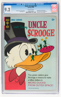 Uncle Scrooge #65 (Gold Key, 1966) CGC NM- 9.2 Off-white pages