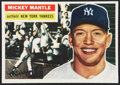 Baseball Cards:Singles (1950-1959), 1956 Topps #135 Mickey Mantle (Trimmed)...