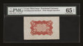 Fractional Currency:Third Issue, Fr. 1236SP 5c Third Issue Wide Margin Back PMG Gem Uncirculated 65 EPQ....