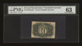 Fractional Currency:Second Issue, Fr. 1244SP 10c Second Issue Narrow Margin Back PMG Choice Uncirculated 63....