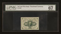 Fractional Currency:First Issue, Fr. 1242 10c First Issue PMG Superb Gem Unc 67 EPQ....