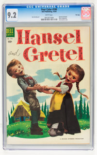 Four Color #590 Hansel and Gretel - File Copy (Dell, 1954) CGC NM- 9.2 White pages