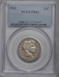 Proof Barber Quarters: , 1902 25C PR62 PCGS. PCGS Population (27/156). NGC Census: (18/176). Mintage: 777. Numismedia Wsl. Price for problem free NG...