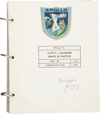 Apollo 10 Flown Earth Landmark Maps & Photos Book Directly from the Personal Collection of M