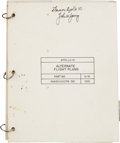 Transportation:Space Exploration, Apollo 10 Flown Alternate Flight Plans Checklist BookDirectly from the Personal Collection of Mission Command Mod...