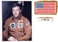 Transportation:Space Exploration, Skylab 1 (SL-2) Flown and Worn Flight Jacket Patches (Two) Directlyfrom the Personal Collection of Mission Pilot Paul Weitz, ...