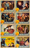 """Movie Posters:Western, Fighting Shadows (Columbia, 1935). Lobby Card Set of 8 (11"""" X14"""").. ... (Total: 8 Items)"""