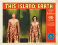 "Movie Posters:Science Fiction, This Island Earth (Universal International, 1955). Lobby Cards (3)(11"" X 14"").. ... (Total: 3 Items)"
