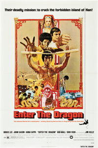 "Enter the Dragon (Warner Brothers, 1973). One Sheet (27"" X 41"")"