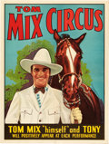 "Movie Posters:Western, Tom Mix Circus Poster (mid-1930s). Circus Poster (21"" X 28"").. ..."