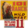 "Movie Posters:Western, 101 Ranch (circa 1910s). Stock Poster (20.5"" X 28"").. ..."