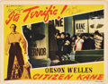 "Movie Posters:Drama, Citizen Kane (RKO, 1941). Autographed Lobby Card (11"" X 14"").. ..."