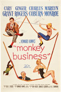 """Movie Posters:Comedy, Monkey Business (20th Century Fox, 1952). Autographed One Sheet(27"""" X 41"""").. ..."""