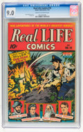 Golden Age (1938-1955):Non-Fiction, Real Life Comics #18 (Nedor Publications, 1944) CGC VF/NM 9.0 Creamto off-white pages....
