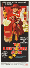 """Movie Posters:Western, For a Few Dollars More (United Artists, 1967). Australian Daybill (13"""" X 30"""").. ..."""