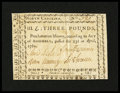 Colonial Notes:North Carolina, North Carolina April 23, 1761 £3 Extremely Fine....