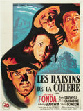 """Movie Posters:Drama, The Grapes of Wrath (20th Century Fox, 1940). French Affiche (23.5"""" X 31.5"""").. ..."""