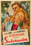 """Movie Posters:Hitchcock, Saboteur (Universal, 1942). Argentinean One Sheet (29"""" X 43"""").. ..."""