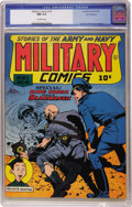 Golden Age (1938-1955):War, Military Comics #19 San Francisco pedigree (Quality, 1943) CGC NM9.4 Off-white pages....